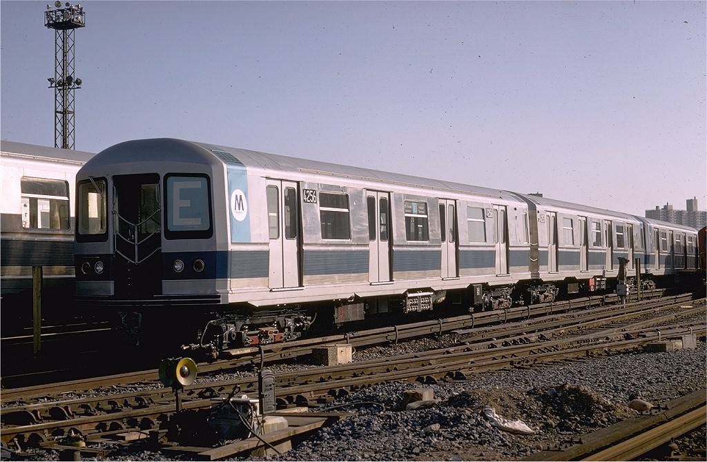 (226k, 1024x670)<br><b>Country:</b> United States<br><b>City:</b> New York<br><b>System:</b> New York City Transit<br><b>Location:</b> Coney Island Yard<br><b>Car:</b> R-40M (St. Louis, 1969)  4256 (ex-4356)<br><b>Photo by:</b> Doug Grotjahn<br><b>Collection of:</b> Joe Testagrose<br><b>Date:</b> 1/12/1969<br><b>Viewed (this week/total):</b> 0 / 2977