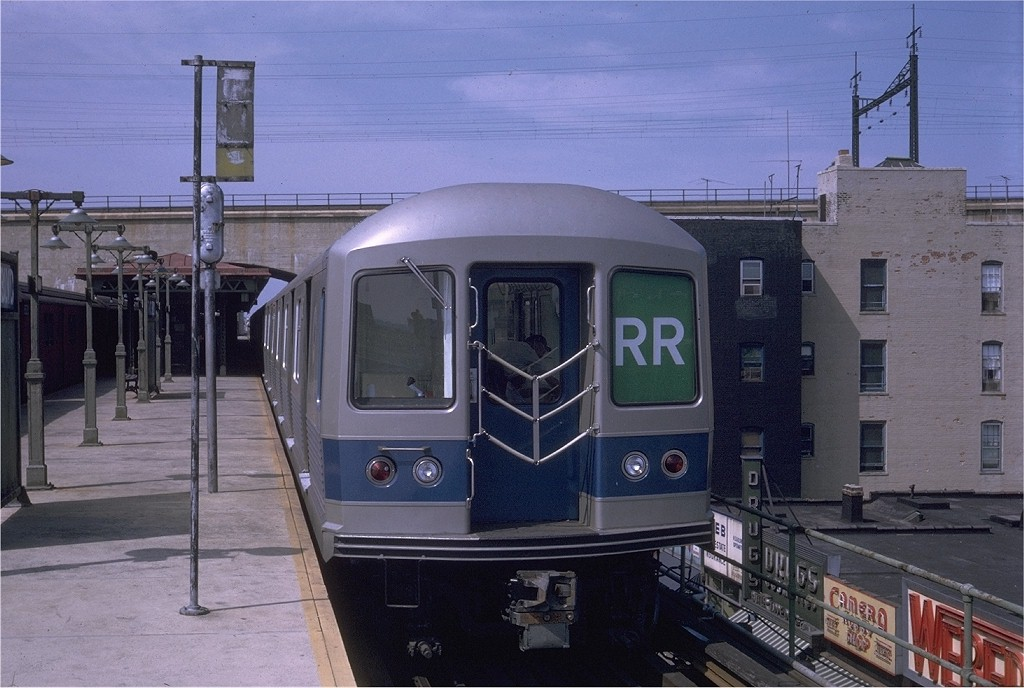 (182k, 1024x688)<br><b>Country:</b> United States<br><b>City:</b> New York<br><b>System:</b> New York City Transit<br><b>Line:</b> BMT Astoria Line<br><b>Location:</b> Ditmars Boulevard <br><b>Route:</b> RR<br><b>Car:</b> R-42 (St. Louis, 1969-1970)  4682 <br><b>Photo by:</b> Doug Grotjahn<br><b>Collection of:</b> Joe Testagrose<br><b>Date:</b> 7/6/1969<br><b>Viewed (this week/total):</b> 4 / 4272