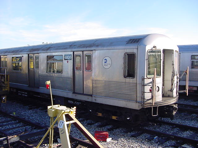 (61k, 640x480)<br><b>Country:</b> United States<br><b>City:</b> New York<br><b>System:</b> New York City Transit<br><b>Location:</b> Coney Island Yard<br><b>Car:</b> R-42 (St. Louis, 1969-1970)  4806 <br><b>Photo by:</b> Salaam Allah<br><b>Date:</b> 10/29/2000<br><b>Viewed (this week/total):</b> 1 / 2951