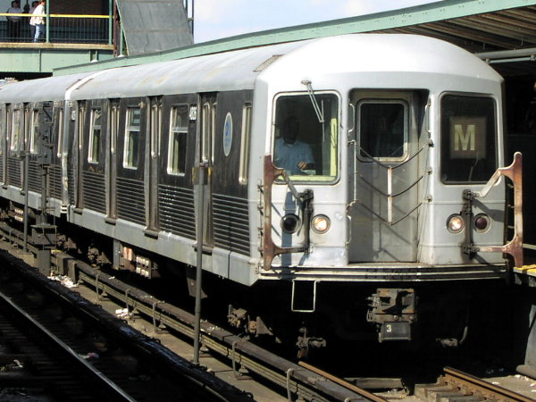 (81k, 600x450)<br><b>Country:</b> United States<br><b>City:</b> New York<br><b>System:</b> New York City Transit<br><b>Location:</b> Coney Island/Stillwell Avenue<br><b>Route:</b> M<br><b>Car:</b> R-42 (St. Louis, 1969-1970)  4816 <br><b>Photo by:</b> Trevor Logan<br><b>Date:</b> 9/19/2001<br><b>Viewed (this week/total):</b> 0 / 3839