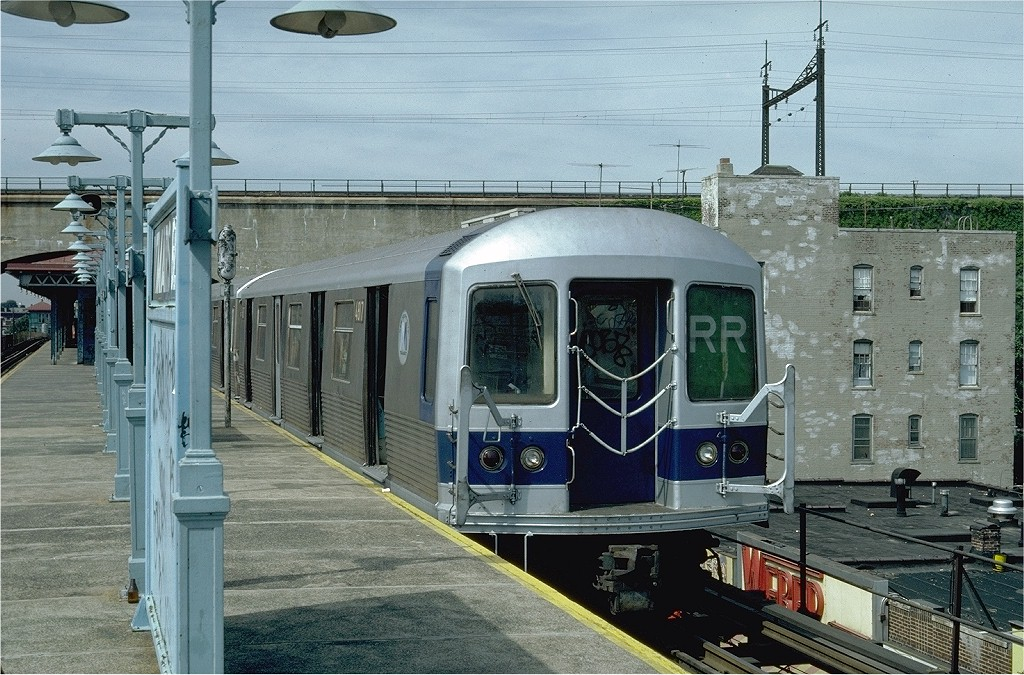 (241k, 1024x675)<br><b>Country:</b> United States<br><b>City:</b> New York<br><b>System:</b> New York City Transit<br><b>Line:</b> BMT Astoria Line<br><b>Location:</b> Ditmars Boulevard <br><b>Route:</b> RR<br><b>Car:</b> R-42 (St. Louis, 1969-1970)  4817 <br><b>Photo by:</b> Steve Zabel<br><b>Collection of:</b> Joe Testagrose<br><b>Date:</b> 7/23/1981<br><b>Viewed (this week/total):</b> 1 / 4131