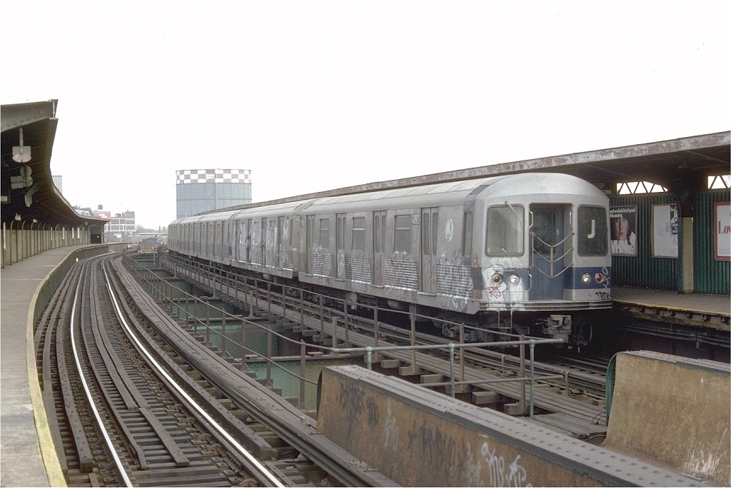 (165k, 1024x684)<br><b>Country:</b> United States<br><b>City:</b> New York<br><b>System:</b> New York City Transit<br><b>Line:</b> BMT Nassau Street/Jamaica Line<br><b>Location:</b> Queens Boulevard (Demolished) <br><b>Route:</b> J<br><b>Car:</b> R-42 (St. Louis, 1969-1970)  4892 <br><b>Photo by:</b> Doug Grotjahn<br><b>Collection of:</b> Joe Testagrose<br><b>Date:</b> 2/16/1976<br><b>Viewed (this week/total):</b> 4 / 4385