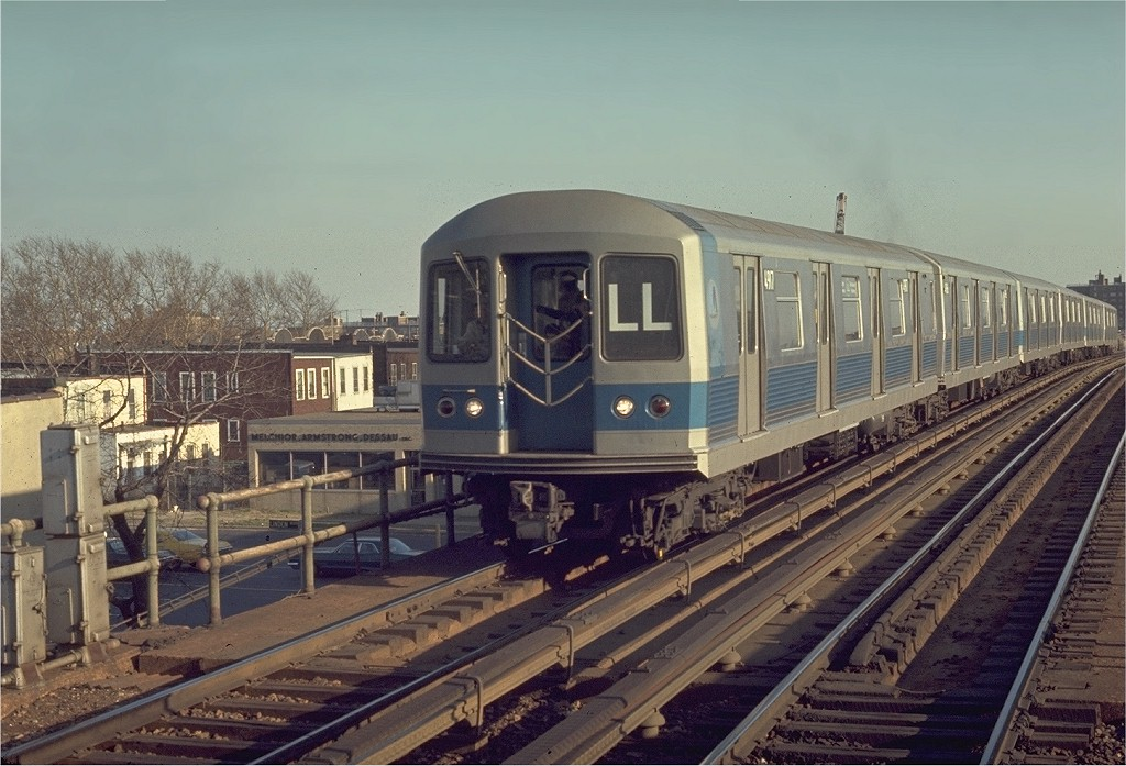 (198k, 1024x697)<br><b>Country:</b> United States<br><b>City:</b> New York<br><b>System:</b> New York City Transit<br><b>Line:</b> BMT Canarsie Line<br><b>Location:</b> New Lots Avenue <br><b>Route:</b> LL<br><b>Car:</b> R-42 (St. Louis, 1969-1970)  4917 <br><b>Photo by:</b> Joe Testagrose<br><b>Date:</b> 4/12/1970<br><b>Viewed (this week/total):</b> 1 / 3173