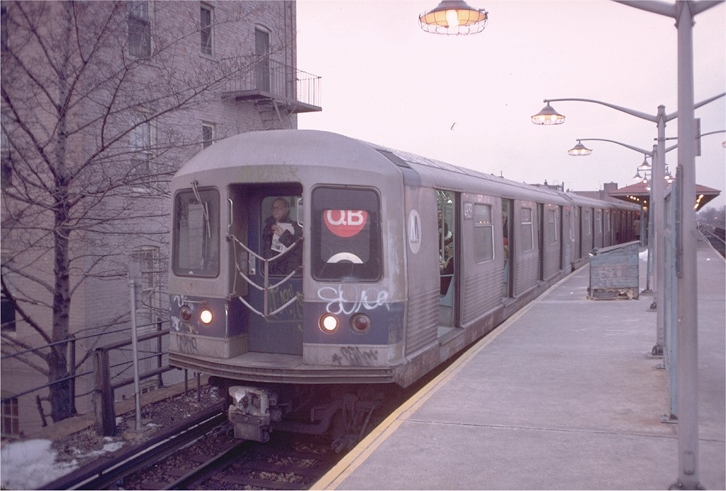 (171k, 1024x692)<br><b>Country:</b> United States<br><b>City:</b> New York<br><b>System:</b> New York City Transit<br><b>Line:</b> BMT Brighton Line<br><b>Location:</b> Kings Highway <br><b>Car:</b> R-42 (St. Louis, 1969-1970)  4939 <br><b>Photo by:</b> Doug Grotjahn<br><b>Collection of:</b> Joe Testagrose<br><b>Date:</b> 3/1/1978<br><b>Viewed (this week/total):</b> 6 / 5355