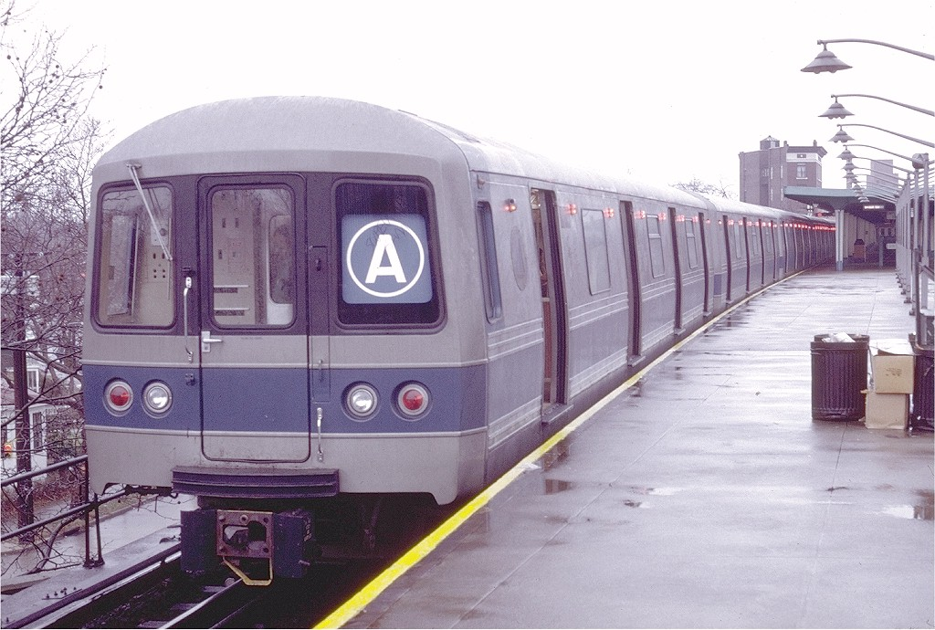 (202k, 1024x690)<br><b>Country:</b> United States<br><b>City:</b> New York<br><b>System:</b> New York City Transit<br><b>Line:</b> IND Rockaway<br><b>Location:</b> Mott Avenue/Far Rockaway <br><b>Route:</b> A<br><b>Car:</b> R-44 (St. Louis, 1971-73) 110 <br><b>Photo by:</b> Doug Grotjahn<br><b>Collection of:</b> Joe Testagrose<br><b>Date:</b> 1/2/1972<br><b>Viewed (this week/total):</b> 6 / 9001