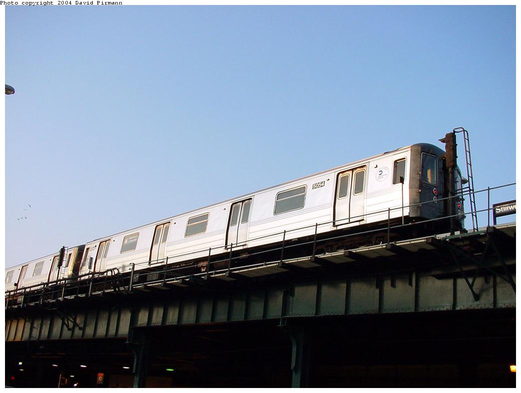 (78k, 1044x788)<br><b>Country:</b> United States<br><b>City:</b> New York<br><b>System:</b> New York City Transit<br><b>Location:</b> Coney Island/Stillwell Avenue<br><b>Route:</b> B<br><b>Car:</b> R-68A (Kawasaki, 1988-1989)  5054 <br><b>Photo by:</b> David Pirmann<br><b>Date:</b> 5/17/2000<br><b>Viewed (this week/total):</b> 2 / 3197