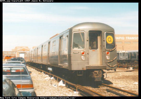 (40k, 540x379)<br><b>Country:</b> United States<br><b>City:</b> New York<br><b>System:</b> New York City Transit<br><b>Location:</b> Coney Island Yard<br><b>Car:</b> R-68A (Kawasaki, 1988-1989)  5055 <br><b>Photo by:</b> Jason R. DeCesare<br><b>Viewed (this week/total):</b> 0 / 3351