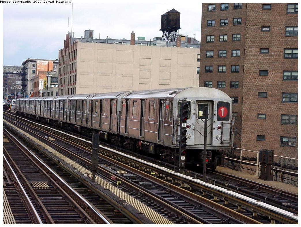 (178k, 1044x788)<br><b>Country:</b> United States<br><b>City:</b> New York<br><b>System:</b> New York City Transit<br><b>Line:</b> IRT West Side Line<br><b>Location:</b> 125th Street <br><b>Route:</b> 1<br><b>Car:</b> R-62A (Bombardier, 1984-1987)  2200 <br><b>Photo by:</b> David Pirmann<br><b>Date:</b> 3/12/2000<br><b>Viewed (this week/total):</b> 0 / 3885