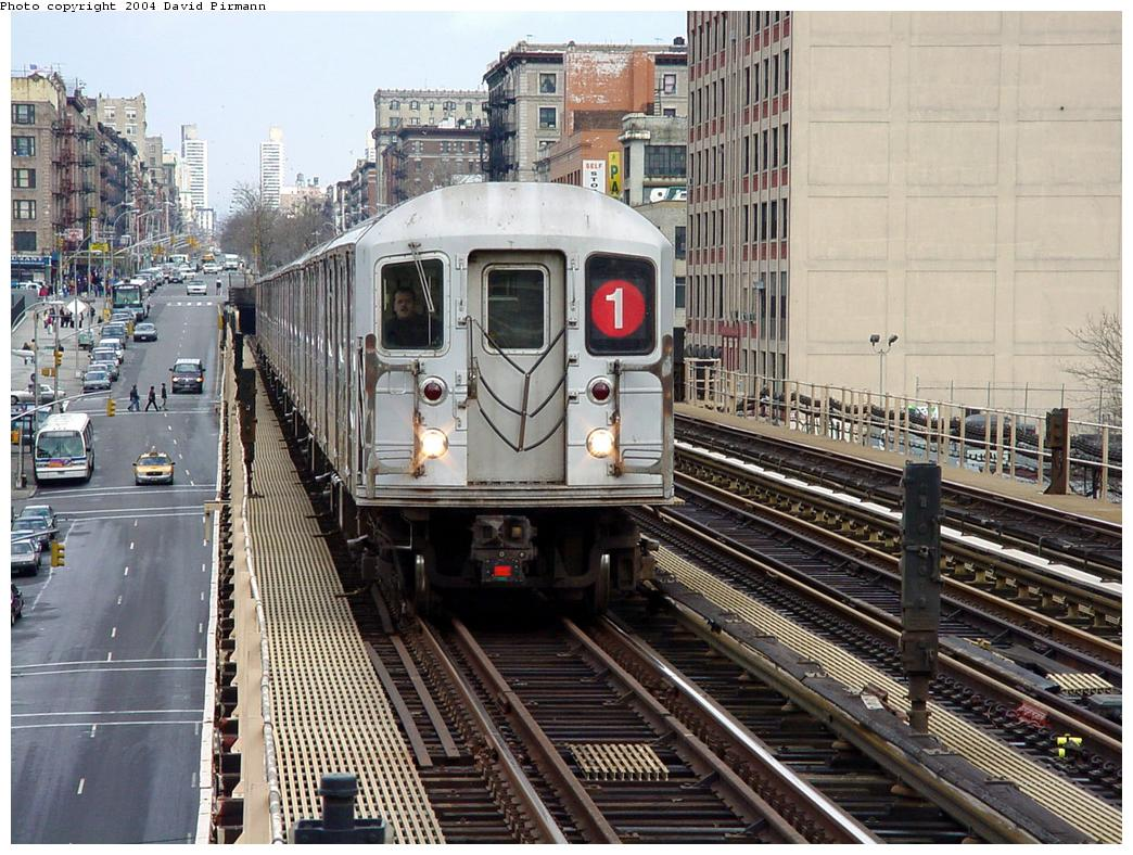 (178k, 1044x788)<br><b>Country:</b> United States<br><b>City:</b> New York<br><b>System:</b> New York City Transit<br><b>Line:</b> IRT West Side Line<br><b>Location:</b> 125th Street <br><b>Route:</b> 1<br><b>Car:</b> R-62A (Bombardier, 1984-1987)   <br><b>Photo by:</b> David Pirmann<br><b>Date:</b> 3/12/2000<br><b>Viewed (this week/total):</b> 2 / 4288