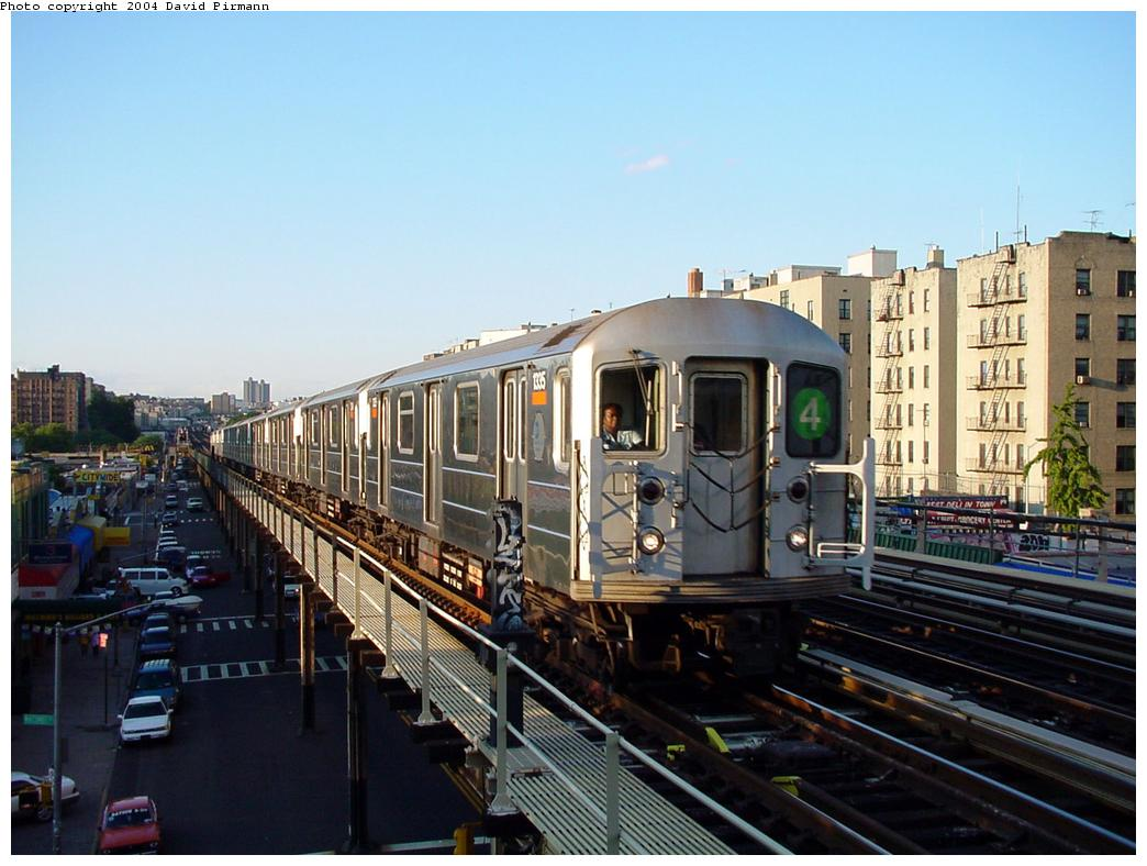 (124k, 1044x788)<br><b>Country:</b> United States<br><b>City:</b> New York<br><b>System:</b> New York City Transit<br><b>Line:</b> IRT Woodlawn Line<br><b>Location:</b> 167th Street <br><b>Route:</b> 4<br><b>Car:</b> R-62 (Kawasaki, 1983-1985)  1335 <br><b>Photo by:</b> David Pirmann<br><b>Date:</b> 7/12/2001<br><b>Viewed (this week/total):</b> 3 / 12636