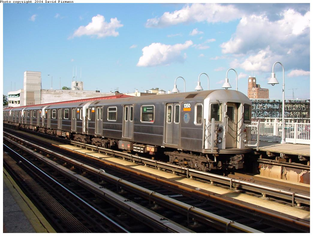 (126k, 1044x788)<br><b>Country:</b> United States<br><b>City:</b> New York<br><b>System:</b> New York City Transit<br><b>Line:</b> IRT Woodlawn Line<br><b>Location:</b> Fordham Road <br><b>Route:</b> 4<br><b>Car:</b> R-62 (Kawasaki, 1983-1985)  1350 <br><b>Photo by:</b> David Pirmann<br><b>Date:</b> 7/12/2001<br><b>Viewed (this week/total):</b> 5 / 8645