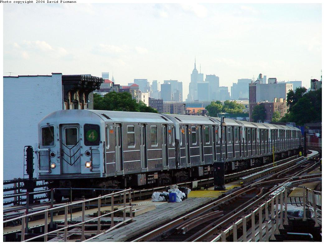 (134k, 1044x788)<br><b>Country:</b> United States<br><b>City:</b> New York<br><b>System:</b> New York City Transit<br><b>Line:</b> IRT Woodlawn Line<br><b>Location:</b> Burnside Avenue <br><b>Route:</b> 4<br><b>Car:</b> R-62 (Kawasaki, 1983-1985)  1366 <br><b>Photo by:</b> David Pirmann<br><b>Date:</b> 7/12/2001<br><b>Viewed (this week/total):</b> 2 / 5839