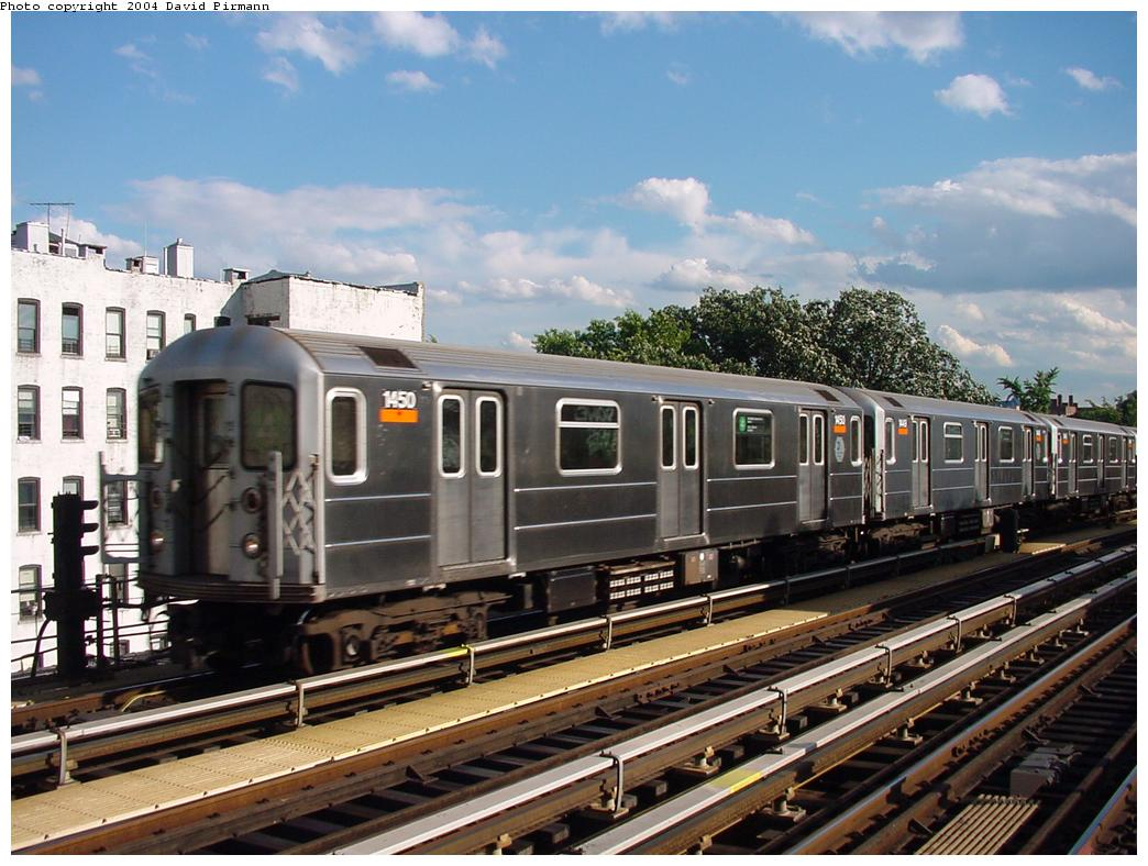 (137k, 1044x788)<br><b>Country:</b> United States<br><b>City:</b> New York<br><b>System:</b> New York City Transit<br><b>Line:</b> IRT Woodlawn Line<br><b>Location:</b> Kingsbridge Road <br><b>Route:</b> 4<br><b>Car:</b> R-62 (Kawasaki, 1983-1985)  1450 <br><b>Photo by:</b> David Pirmann<br><b>Date:</b> 7/12/2001<br><b>Viewed (this week/total):</b> 4 / 4191