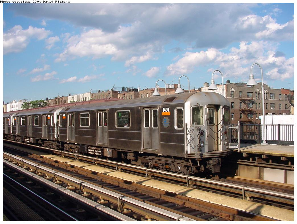 (139k, 1044x788)<br><b>Country:</b> United States<br><b>City:</b> New York<br><b>System:</b> New York City Transit<br><b>Line:</b> IRT Woodlawn Line<br><b>Location:</b> Kingsbridge Road <br><b>Route:</b> 4<br><b>Car:</b> R-62 (Kawasaki, 1983-1985)  1491 <br><b>Photo by:</b> David Pirmann<br><b>Date:</b> 7/12/2001<br><b>Viewed (this week/total):</b> 1 / 3524