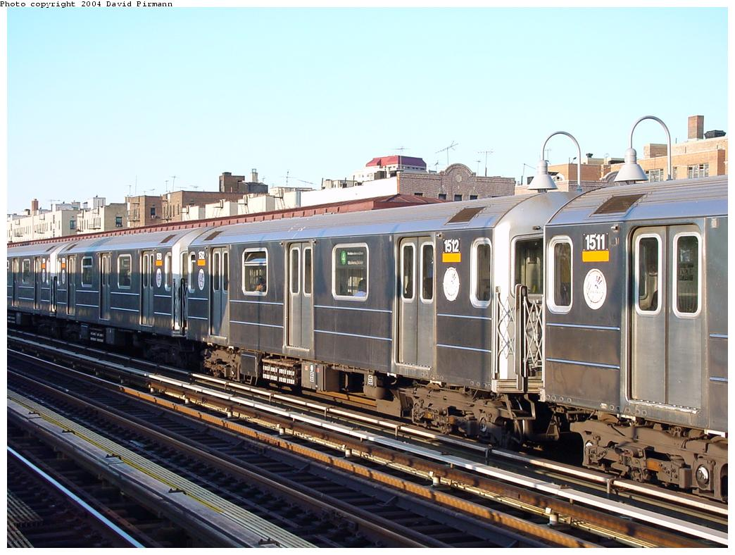 (139k, 1044x788)<br><b>Country:</b> United States<br><b>City:</b> New York<br><b>System:</b> New York City Transit<br><b>Line:</b> IRT Woodlawn Line<br><b>Location:</b> 170th Street <br><b>Route:</b> 4<br><b>Car:</b> R-62 (Kawasaki, 1983-1985)  1512 <br><b>Photo by:</b> David Pirmann<br><b>Date:</b> 7/12/2001<br><b>Viewed (this week/total):</b> 1 / 3389
