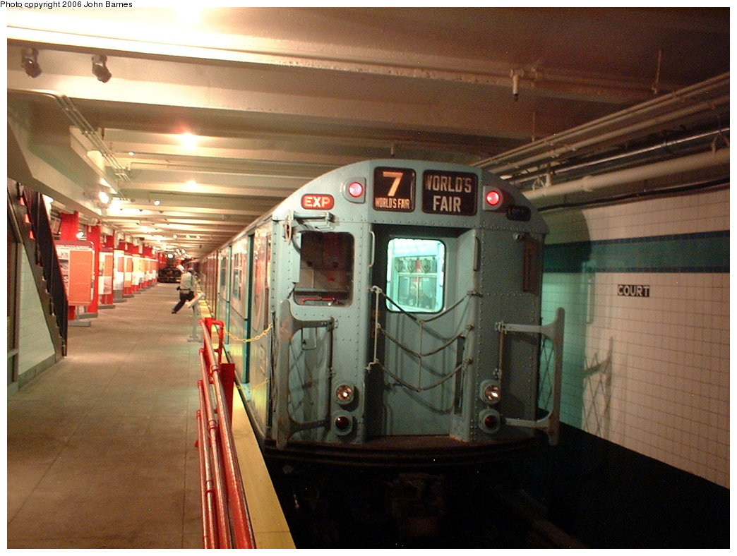 (178k, 1044x788)<br><b>Country:</b> United States<br><b>City:</b> New York<br><b>System:</b> New York City Transit<br><b>Location:</b> New York Transit Museum<br><b>Car:</b> R-33 World's Fair (St. Louis, 1963-64) 9306 <br><b>Photo by:</b> John Barnes<br><b>Date:</b> 9/13/2003<br><b>Viewed (this week/total):</b> 1 / 3746