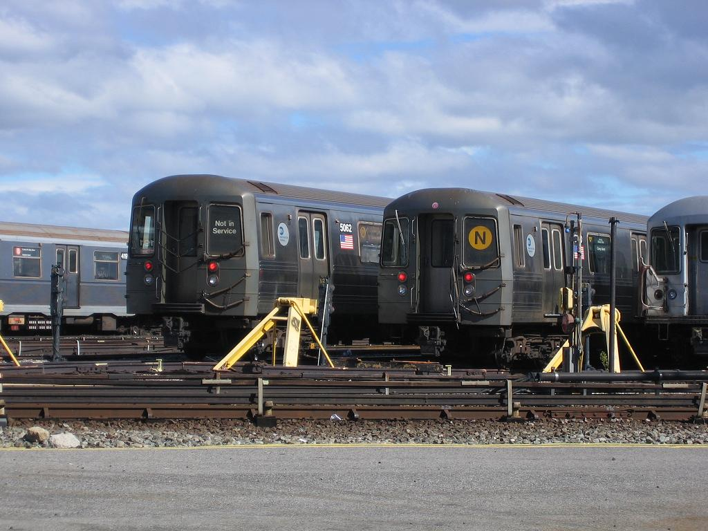 (130k, 1024x768)<br><b>Country:</b> United States<br><b>City:</b> New York<br><b>System:</b> New York City Transit<br><b>Location:</b> Coney Island Yard<br><b>Car:</b> R-68A (Kawasaki, 1988-1989)  5062 <br><b>Photo by:</b> Michael Hodurski<br><b>Date:</b> 6/10/2006<br><b>Viewed (this week/total):</b> 1 / 2225