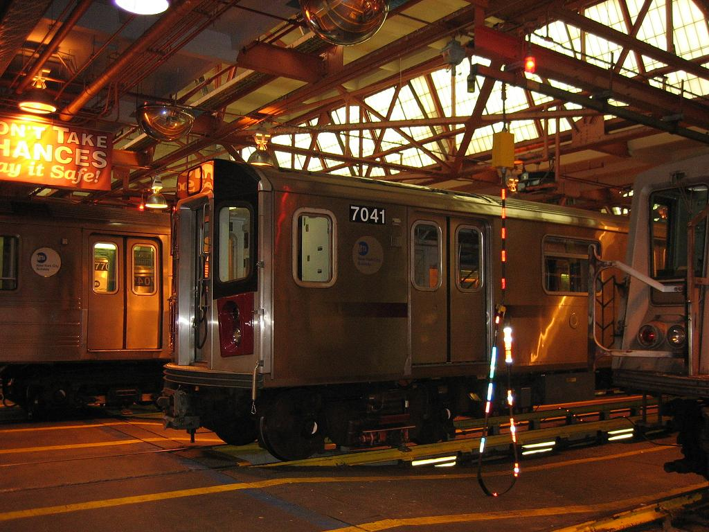 (149k, 1024x768)<br><b>Country:</b> United States<br><b>City:</b> New York<br><b>System:</b> New York City Transit<br><b>Location:</b> Coney Island Shop/Overhaul & Repair Shop<br><b>Car:</b> R-142 (Option Order, Bombardier, 2002-2003)  7041 <br><b>Photo by:</b> Michael Hodurski<br><b>Date:</b> 6/10/2006<br><b>Viewed (this week/total):</b> 1 / 2845