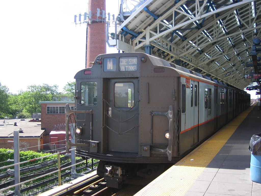(150k, 1024x768)<br><b>Country:</b> United States<br><b>City:</b> New York<br><b>System:</b> New York City Transit<br><b>Location:</b> Coney Island/Stillwell Avenue<br><b>Route:</b> Fan Trip<br><b>Car:</b> R-7A (Pullman, 1938)  1575 <br><b>Photo by:</b> Michael Hodurski<br><b>Date:</b> 6/10/2006<br><b>Notes:</b> APTA convention special shuttle between Coney Island Yard and Stillwell Ave.<br><b>Viewed (this week/total):</b> 0 / 1915