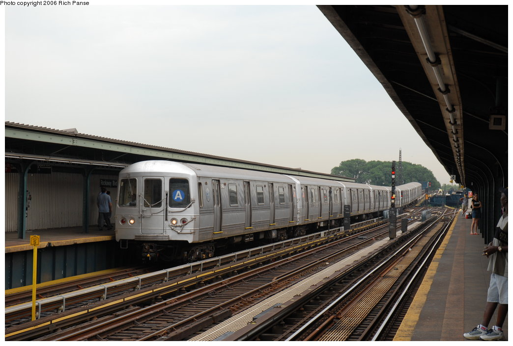 (180k, 1044x705)<br><b>Country:</b> United States<br><b>City:</b> New York<br><b>System:</b> New York City Transit<br><b>Line:</b> IND Fulton Street Line<br><b>Location:</b> Rockaway Boulevard <br><b>Route:</b> A<br><b>Car:</b> R-44 (St. Louis, 1971-73) 5466 <br><b>Photo by:</b> Richard Panse<br><b>Date:</b> 6/17/2006<br><b>Viewed (this week/total):</b> 3 / 2293