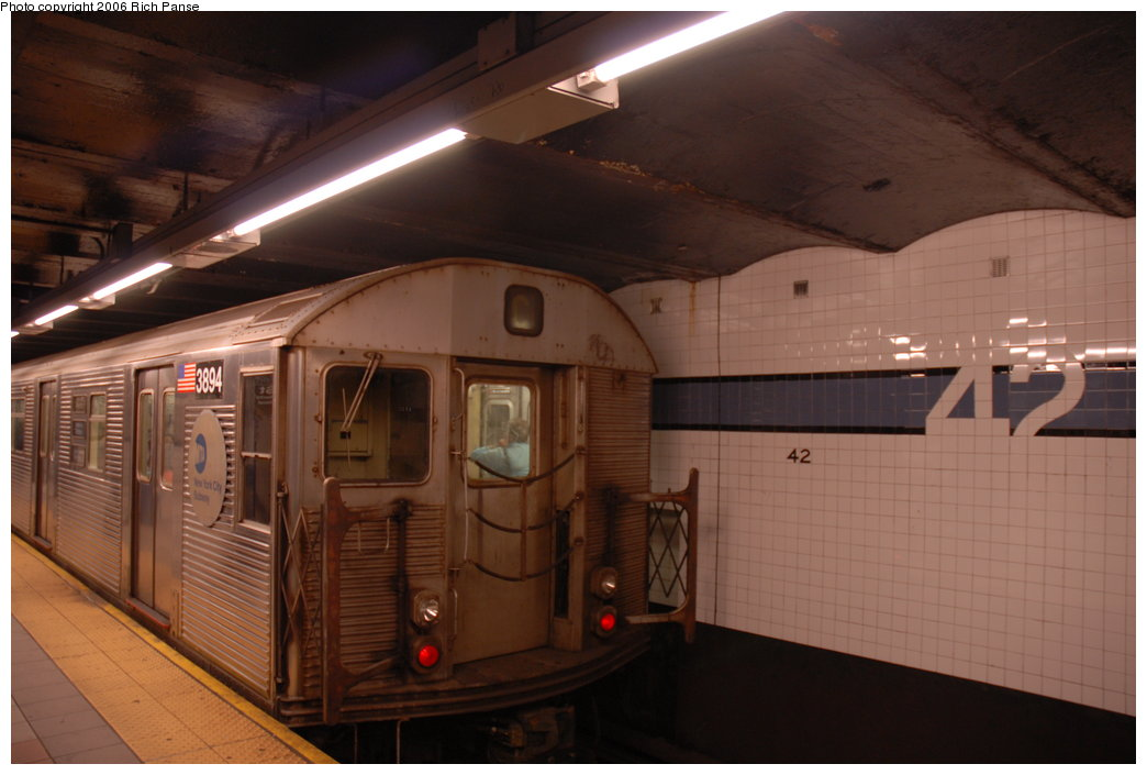 (150k, 1044x705)<br><b>Country:</b> United States<br><b>City:</b> New York<br><b>System:</b> New York City Transit<br><b>Line:</b> IND 8th Avenue Line<br><b>Location:</b> 42nd Street/Port Authority Bus Terminal <br><b>Route:</b> C<br><b>Car:</b> R-32 (Budd, 1964)  3894 <br><b>Photo by:</b> Richard Panse<br><b>Date:</b> 6/16/2006<br><b>Viewed (this week/total):</b> 0 / 2975