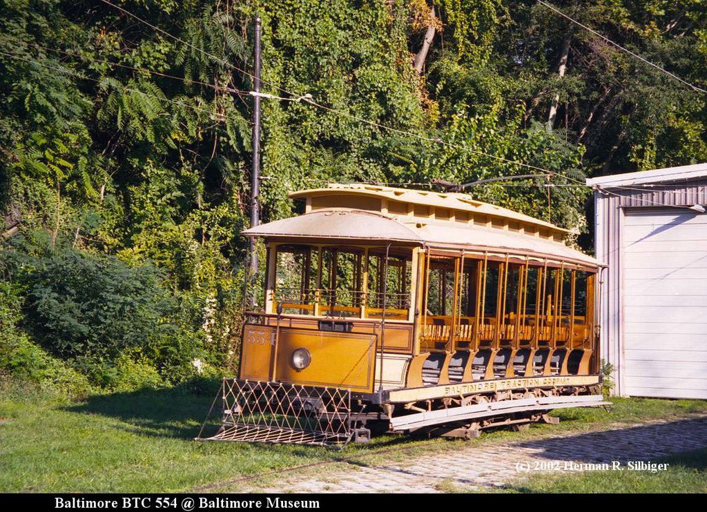 (348k, 1024x742)<br><b>Country:</b> United States<br><b>City:</b> Baltimore, MD<br><b>System:</b> Baltimore Streetcar Museum <br><b>Car:</b>  554 <br><b>Photo by:</b> Herman R. Silbiger<br><b>Date:</b> 2002<br><b>Viewed (this week/total):</b> 2 / 803