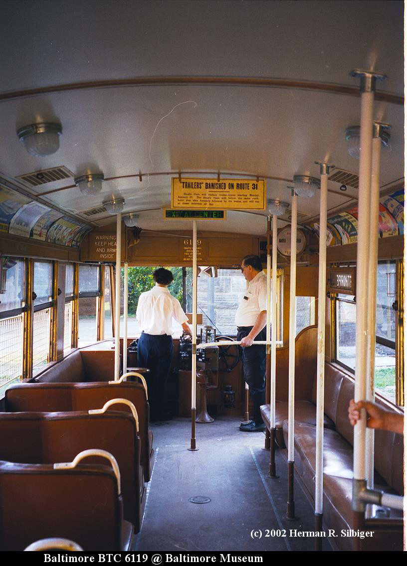 (164k, 816x1136)<br><b>Country:</b> United States<br><b>City:</b> Baltimore, MD<br><b>System:</b> Baltimore Streetcar Museum <br><b>Car:</b>  6119 <br><b>Photo by:</b> Herman R. Silbiger<br><b>Date:</b> 2002<br><b>Viewed (this week/total):</b> 1 / 756