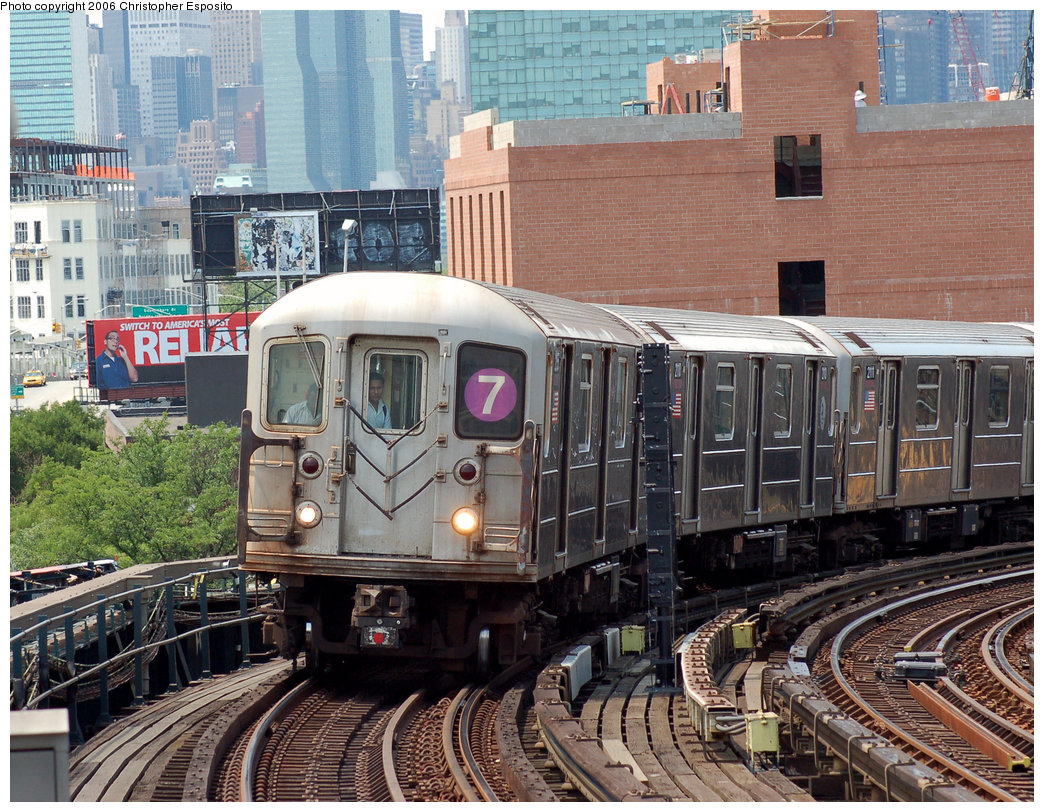 (300k, 1044x812)<br><b>Country:</b> United States<br><b>City:</b> New York<br><b>System:</b> New York City Transit<br><b>Line:</b> IRT Flushing Line<br><b>Location:</b> 33rd Street/Rawson Street <br><b>Route:</b> 7<br><b>Car:</b> R-62A (Bombardier, 1984-1987)  2xxx <br><b>Photo by:</b> Christopher Esposito<br><b>Date:</b> 7/7/2006<br><b>Viewed (this week/total):</b> 6 / 2376