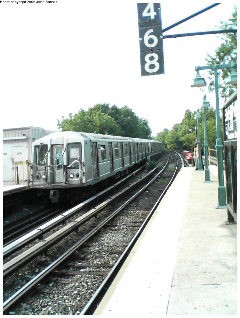 (145k, 788x1044)<br><b>Country:</b> United States<br><b>City:</b> New York<br><b>System:</b> New York City Transit<br><b>Line:</b> BMT Brighton Line<br><b>Location:</b> Sheepshead Bay <br><b>Route:</b> B<br><b>Car:</b> R-40 (St. Louis, 1968)  4188 <br><b>Photo by:</b> John Barnes<br><b>Date:</b> 7/10/2006<br><b>Viewed (this week/total):</b> 1 / 1658