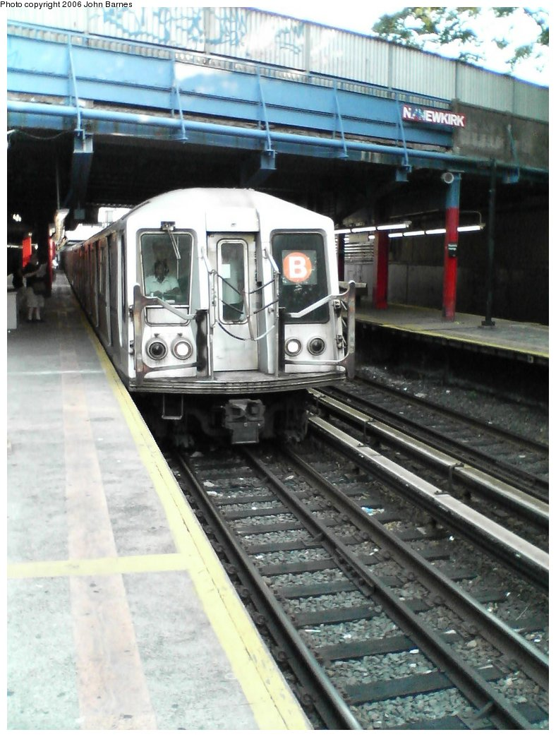 (164k, 788x1044)<br><b>Country:</b> United States<br><b>City:</b> New York<br><b>System:</b> New York City Transit<br><b>Line:</b> BMT Brighton Line<br><b>Location:</b> Newkirk Plaza (fmrly Newkirk Ave.) <br><b>Route:</b> B<br><b>Car:</b> R-40 (St. Louis, 1968)  4224 <br><b>Photo by:</b> John Barnes<br><b>Date:</b> 7/10/2006<br><b>Viewed (this week/total):</b> 0 / 1838
