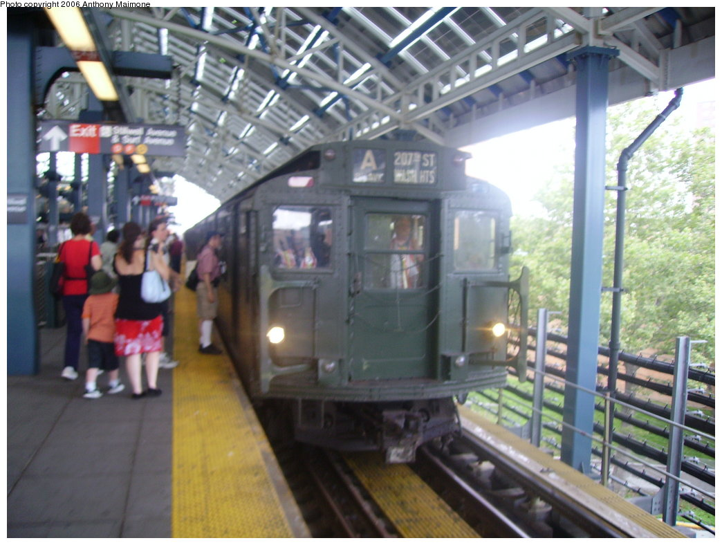 (180k, 1044x788)<br><b>Country:</b> United States<br><b>City:</b> New York<br><b>System:</b> New York City Transit<br><b>Location:</b> Coney Island/Stillwell Avenue<br><b>Route:</b> Fan Trip<br><b>Car:</b> R-9 (Pressed Steel, 1940)  1802 <br><b>Photo by:</b> Anthony Maimone<br><b>Date:</b> 7/22/2006<br><b>Viewed (this week/total):</b> 3 / 2164
