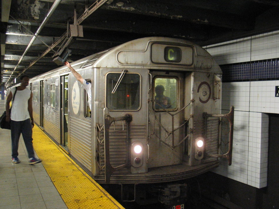 (156k, 950x713)<br><b>Country:</b> United States<br><b>City:</b> New York<br><b>System:</b> New York City Transit<br><b>Line:</b> IND Queens Boulevard Line<br><b>Location:</b> 7th Avenue/53rd Street <br><b>Route:</b> C<br><b>Car:</b> R-38 (St. Louis, 1966-1967)  4017 <br><b>Photo by:</b> David of Broadway<br><b>Date:</b> 7/16/2006<br><b>Notes:</b> C train via 6th Avenue reroute.<br><b>Viewed (this week/total):</b> 3 / 3767
