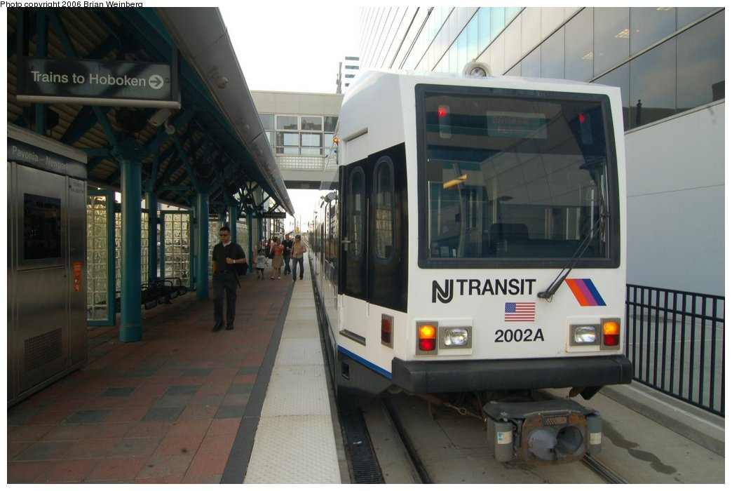 (178k, 1044x700)<br><b>Country:</b> United States<br><b>City:</b> Jersey City, NJ<br><b>System:</b> Hudson Bergen Light Rail<br><b>Location:</b> Pavonia/Newport <br><b>Car:</b> NJT-HBLR LRV (Kinki-Sharyo, 1998-99)  2002 <br><b>Photo by:</b> Brian Weinberg<br><b>Date:</b> 7/19/2006<br><b>Viewed (this week/total):</b> 0 / 2184