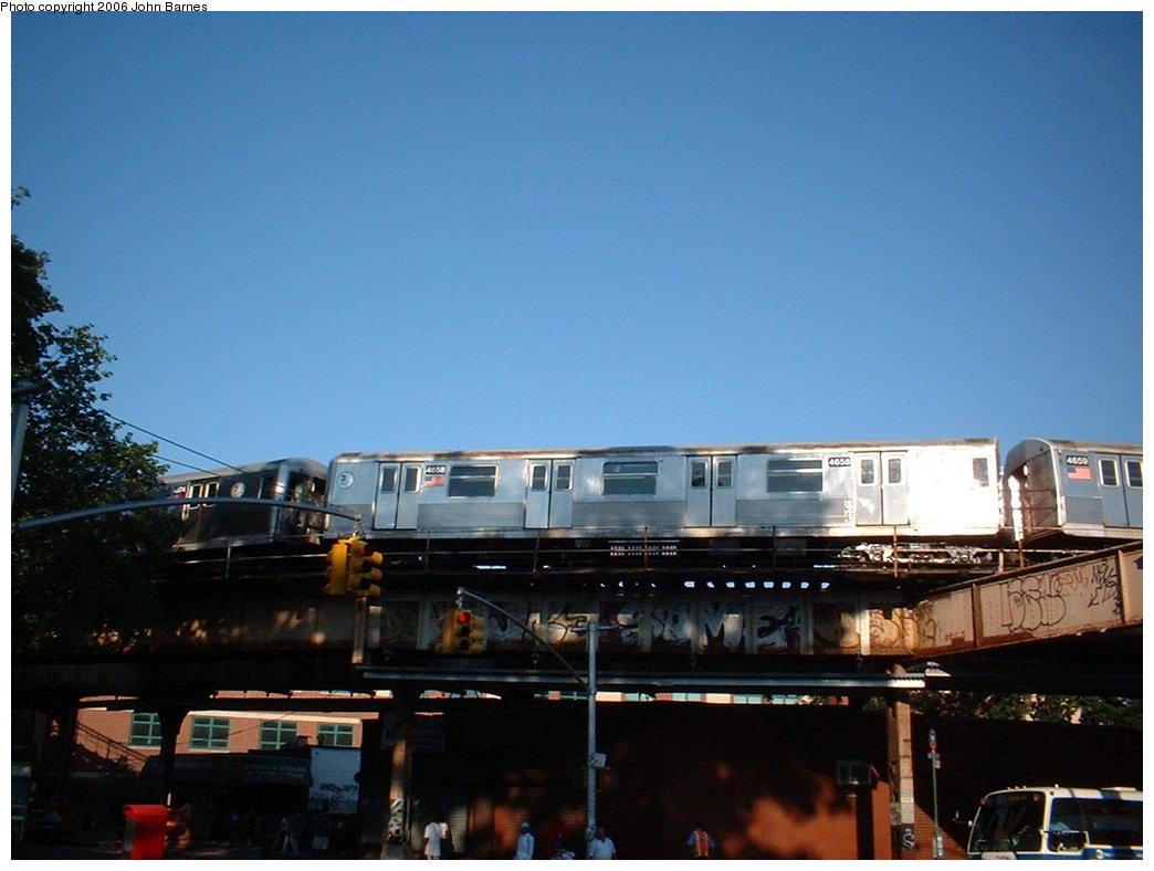 (156k, 1044x788)<br><b>Country:</b> United States<br><b>City:</b> New York<br><b>System:</b> New York City Transit<br><b>Line:</b> BMT Nassau Street/Jamaica Line<br><b>Location:</b> Cypress Hills <br><b>Route:</b> J<br><b>Car:</b> R-42 (St. Louis, 1969-1970)  4658 <br><b>Photo by:</b> John Barnes<br><b>Date:</b> 7/16/2006<br><b>Viewed (this week/total):</b> 3 / 3231