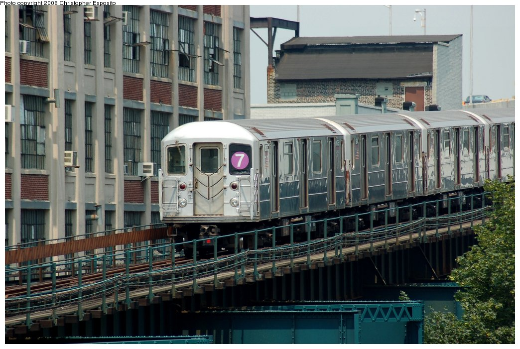 (174k, 1044x701)<br><b>Country:</b> United States<br><b>City:</b> New York<br><b>System:</b> New York City Transit<br><b>Line:</b> IRT Flushing Line<br><b>Location:</b> Court House Square/45th Road <br><b>Route:</b> 7<br><b>Car:</b> R-62A (Bombardier, 1984-1987)   <br><b>Photo by:</b> Christopher Esposito<br><b>Date:</b> 7/26/2006<br><b>Viewed (this week/total):</b> 2 / 1777