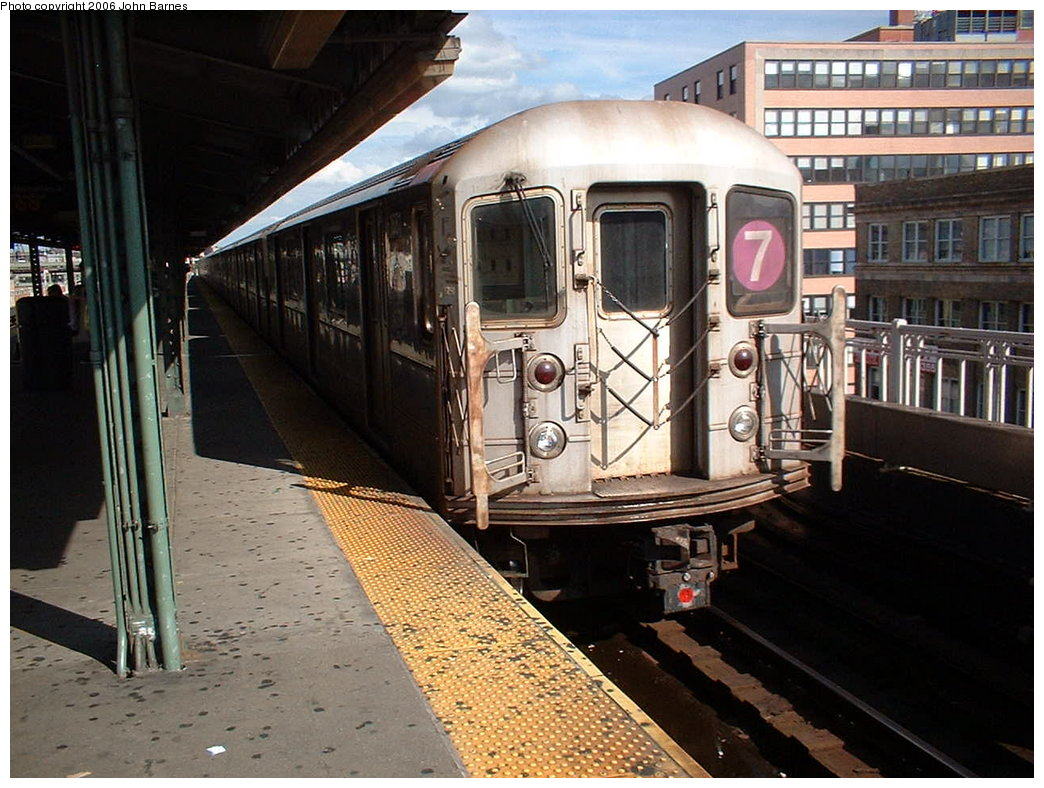 (202k, 1044x788)<br><b>Country:</b> United States<br><b>City:</b> New York<br><b>System:</b> New York City Transit<br><b>Line:</b> IRT Flushing Line<br><b>Location:</b> Queensborough Plaza <br><b>Route:</b> 7<br><b>Car:</b> R-62A (Bombardier, 1984-1987)  1668 <br><b>Photo by:</b> John Barnes<br><b>Date:</b> 7/23/2006<br><b>Viewed (this week/total):</b> 1 / 2075