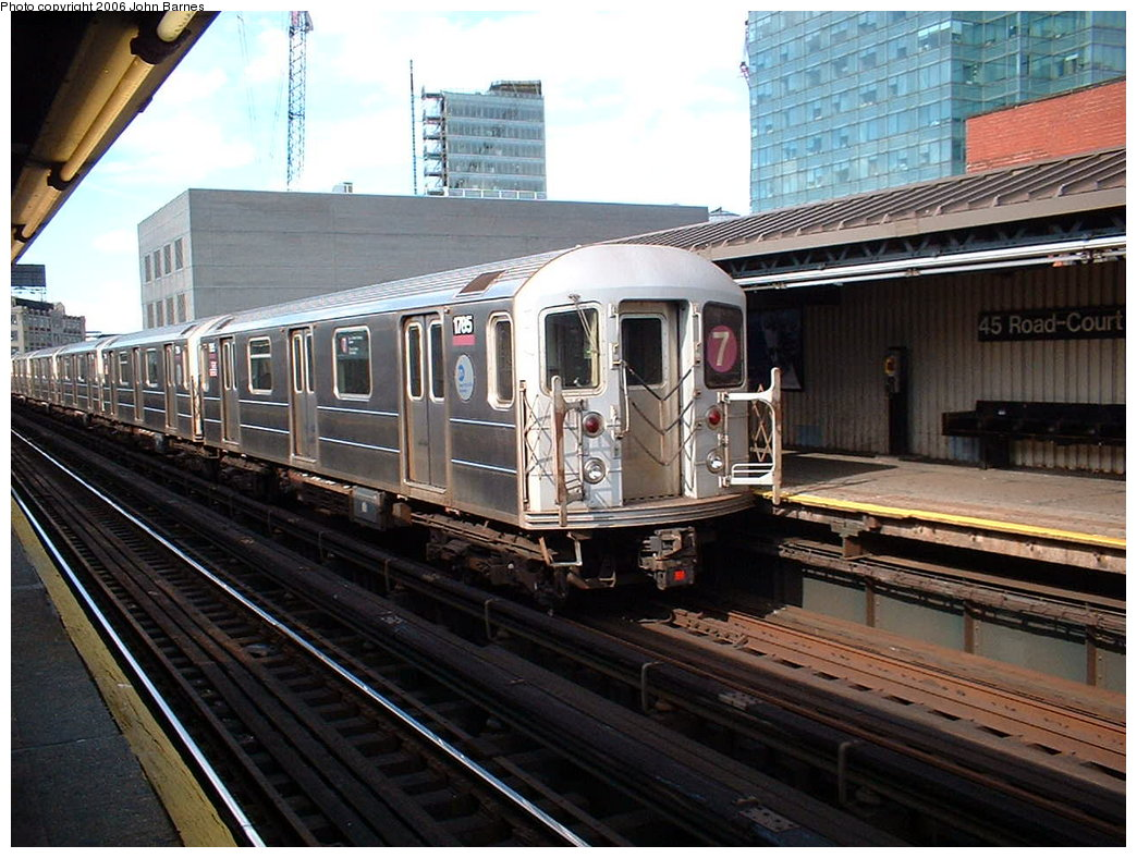 (203k, 1044x788)<br><b>Country:</b> United States<br><b>City:</b> New York<br><b>System:</b> New York City Transit<br><b>Line:</b> IRT Flushing Line<br><b>Location:</b> Court House Square/45th Road <br><b>Route:</b> 7<br><b>Car:</b> R-62A (Bombardier, 1984-1987)  1785 <br><b>Photo by:</b> John Barnes<br><b>Date:</b> 7/23/2006<br><b>Viewed (this week/total):</b> 1 / 2102