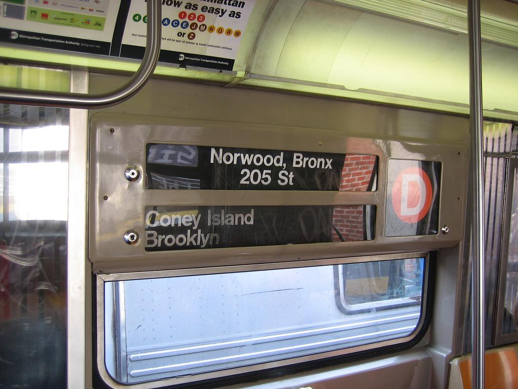 (119k, 1024x768)<br><b>Country:</b> United States<br><b>City:</b> New York<br><b>System:</b> New York City Transit<br><b>Location:</b> Coney Island/Stillwell Avenue<br><b>Route:</b> D<br><b>Car:</b> R-68 (Westinghouse-Amrail, 1986-1988)  2775 <br><b>Photo by:</b> Michael Hodurski<br><b>Date:</b> 7/26/2006<br><b>Notes:</b> Note original roll signs.<br><b>Viewed (this week/total):</b> 0 / 4787
