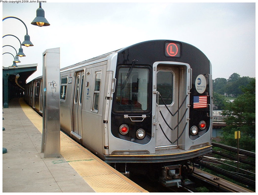 (173k, 1044x788)<br><b>Country:</b> United States<br><b>City:</b> New York<br><b>System:</b> New York City Transit<br><b>Line:</b> BMT Canarsie Line<br><b>Location:</b> Broadway Junction <br><b>Route:</b> L<br><b>Car:</b> R-143 (Kawasaki, 2001-2002) 8200 <br><b>Photo by:</b> John Barnes<br><b>Date:</b> 8/7/2006<br><b>Viewed (this week/total):</b> 1 / 2324