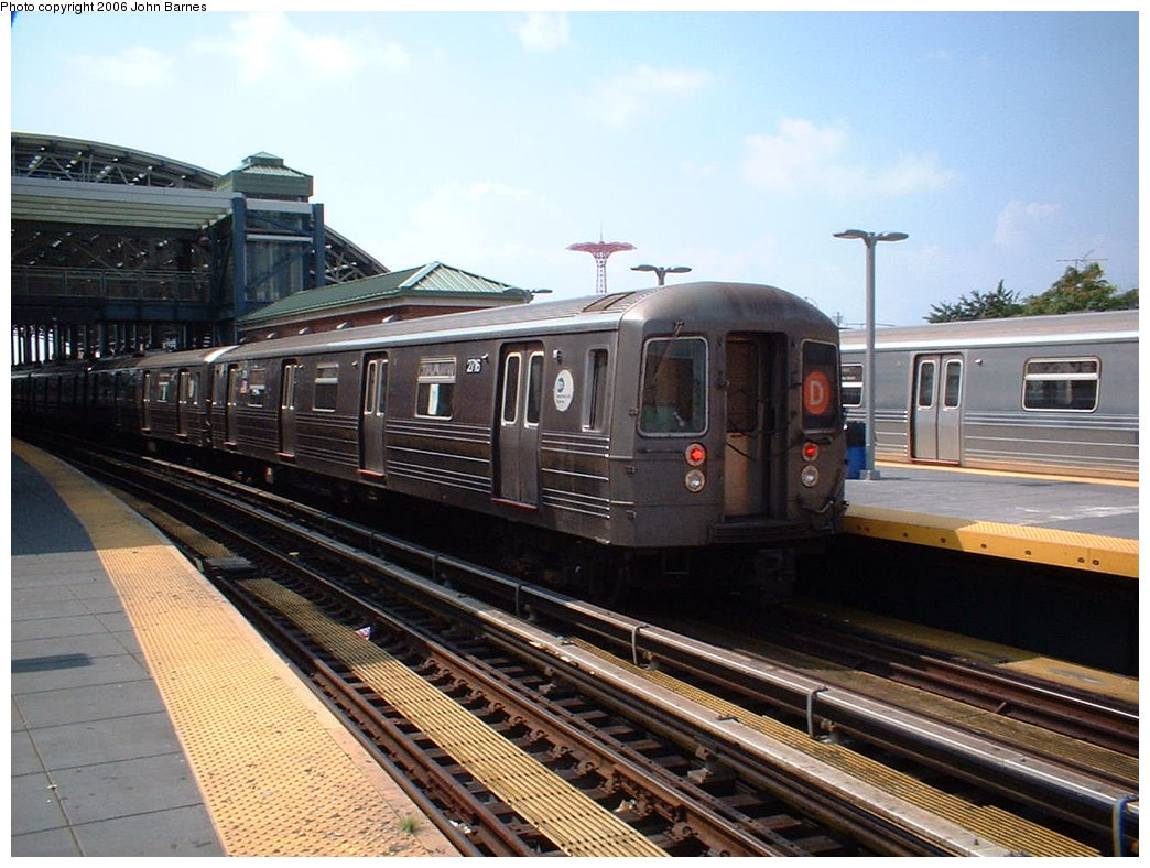 (190k, 1044x788)<br><b>Country:</b> United States<br><b>City:</b> New York<br><b>System:</b> New York City Transit<br><b>Location:</b> Coney Island/Stillwell Avenue<br><b>Route:</b> D<br><b>Car:</b> R-68 (Westinghouse-Amrail, 1986-1988)  2716 <br><b>Photo by:</b> John Barnes<br><b>Date:</b> 8/20/2006<br><b>Viewed (this week/total):</b> 0 / 2004
