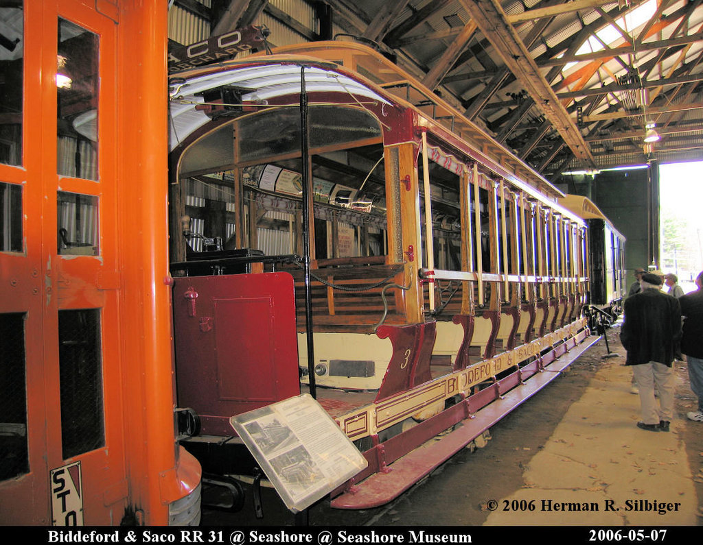 (268k, 1024x795)<br><b>Country:</b> United States<br><b>City:</b> Kennebunk, ME<br><b>System:</b> Seashore Trolley Museum <br><b>Car:</b> Biddeford & Saco 31 <br><b>Photo by:</b> Herman R. Silbiger<br><b>Date:</b> 5/7/2006<br><b>Viewed (this week/total):</b> 2 / 783