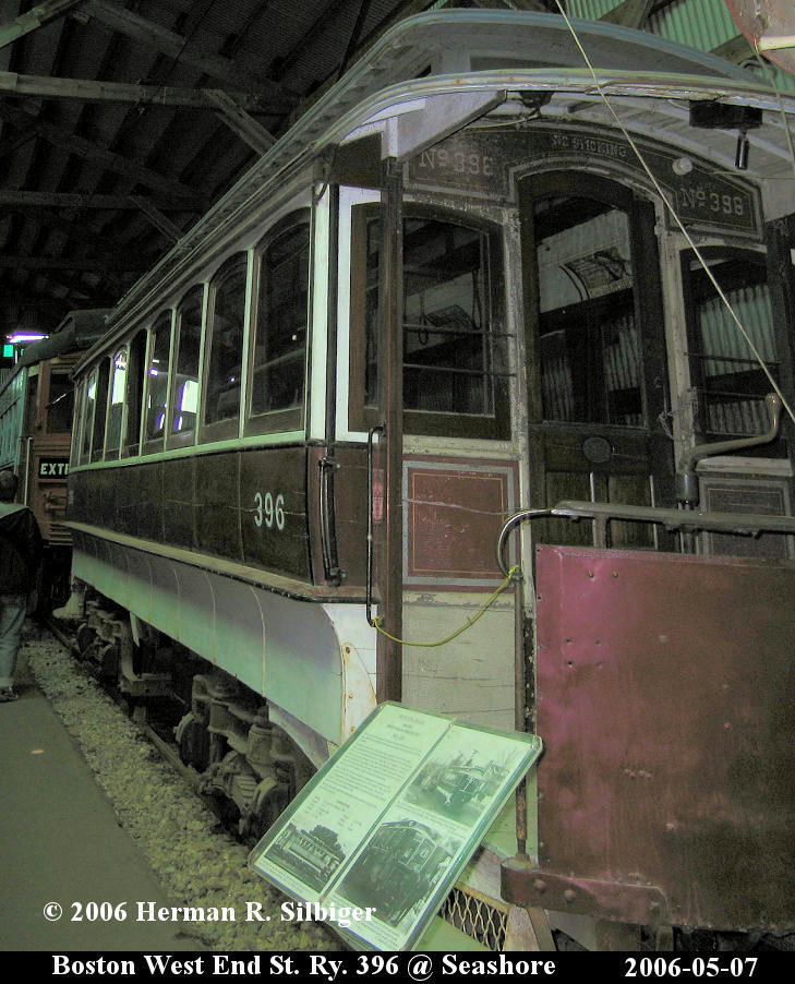 (162k, 729x902)<br><b>Country:</b> United States<br><b>City:</b> Kennebunk, ME<br><b>System:</b> Seashore Trolley Museum <br><b>Car:</b> MBTA 396 <br><b>Photo by:</b> Herman R. Silbiger<br><b>Date:</b> 5/7/2006<br><b>Viewed (this week/total):</b> 0 / 1257