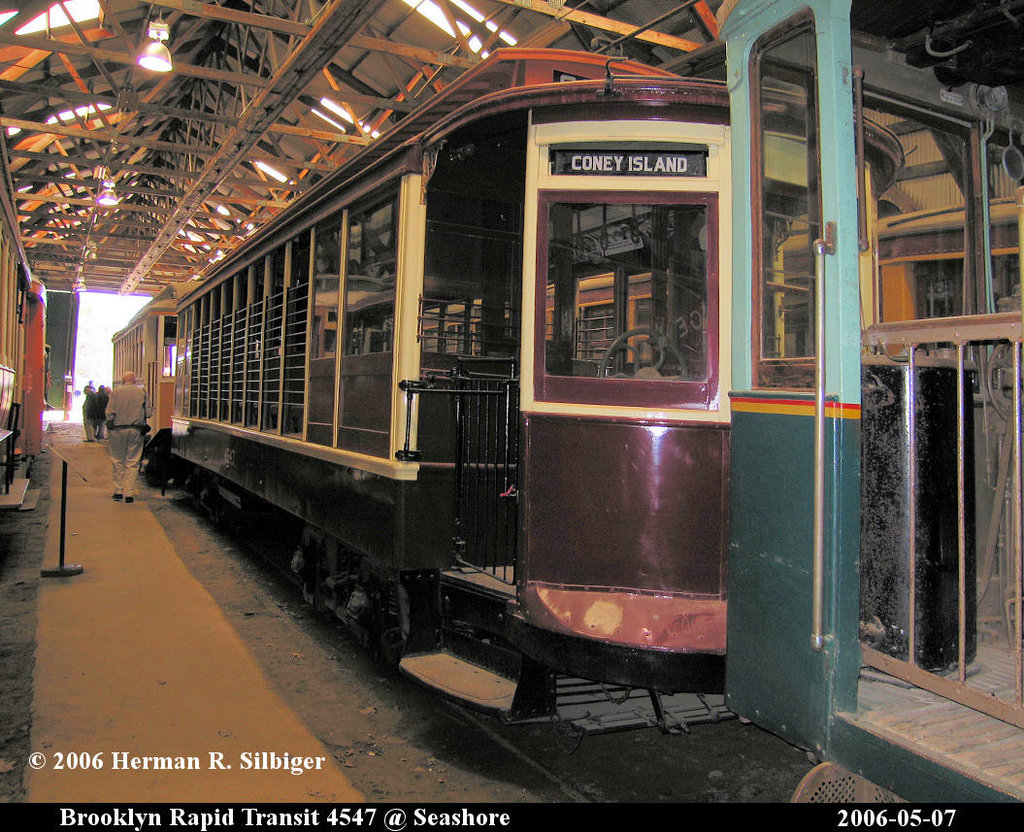 (287k, 1024x832)<br><b>Country:</b> United States<br><b>City:</b> Kennebunk, ME<br><b>System:</b> Seashore Trolley Museum <br><b>Car:</b> B&QT/BMT 4547 <br><b>Photo by:</b> Herman R. Silbiger<br><b>Date:</b> 5/7/2006<br><b>Viewed (this week/total):</b> 1 / 1052