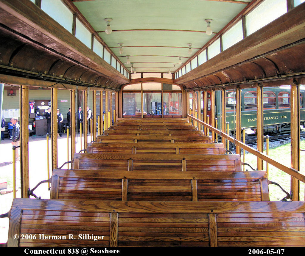 (309k, 1024x861)<br><b>Country:</b> United States<br><b>City:</b> Kennebunk, ME<br><b>System:</b> Seashore Trolley Museum <br><b>Car:</b> Connecticut Company 838 <br><b>Photo by:</b> Herman R. Silbiger<br><b>Date:</b> 5/7/2006<br><b>Viewed (this week/total):</b> 2 / 881