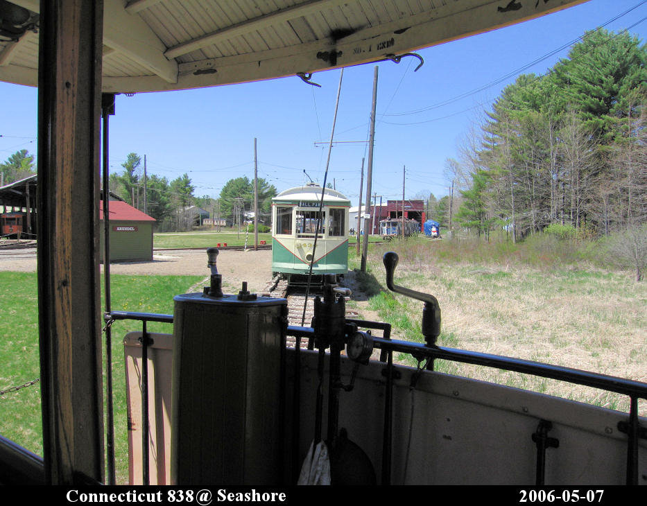 (176k, 933x730)<br><b>Country:</b> United States<br><b>City:</b> Kennebunk, ME<br><b>System:</b> Seashore Trolley Museum <br><b>Car:</b> Connecticut Company 838 <br><b>Photo by:</b> Herman R. Silbiger<br><b>Date:</b> 5/7/2006<br><b>Viewed (this week/total):</b> 0 / 659