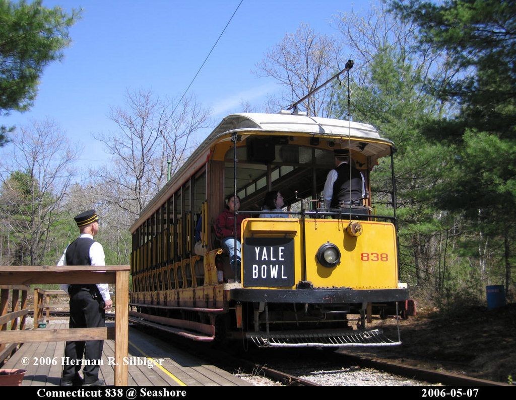 (264k, 1024x795)<br><b>Country:</b> United States<br><b>City:</b> Kennebunk, ME<br><b>System:</b> Seashore Trolley Museum <br><b>Car:</b> Connecticut Company 838 <br><b>Photo by:</b> Herman R. Silbiger<br><b>Date:</b> 5/7/2006<br><b>Viewed (this week/total):</b> 0 / 640