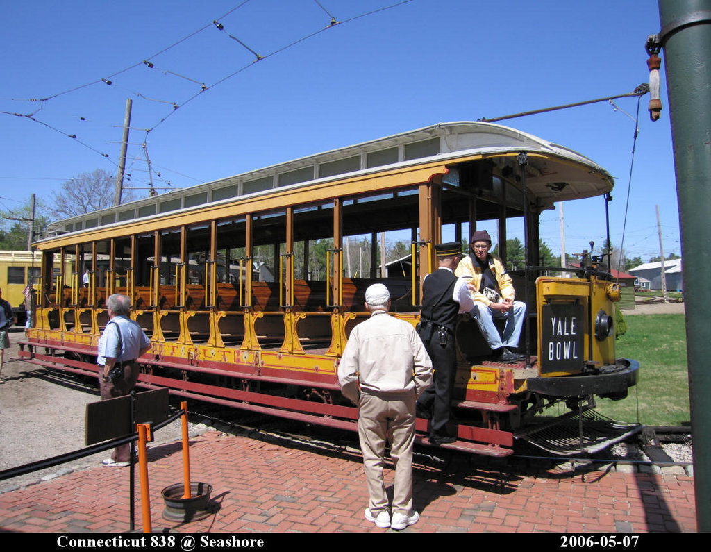 (245k, 1024x795)<br><b>Country:</b> United States<br><b>City:</b> Kennebunk, ME<br><b>System:</b> Seashore Trolley Museum <br><b>Car:</b> Connecticut Company 838 <br><b>Photo by:</b> Herman R. Silbiger<br><b>Date:</b> 5/7/2006<br><b>Viewed (this week/total):</b> 0 / 817