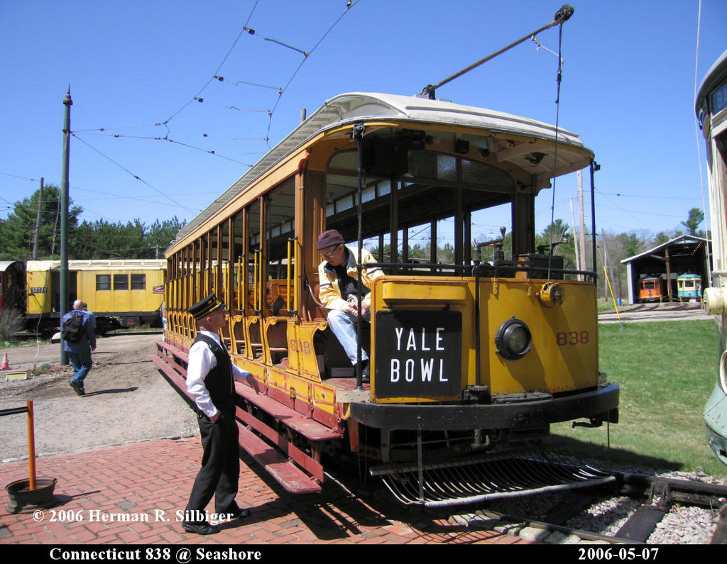(240k, 1024x795)<br><b>Country:</b> United States<br><b>City:</b> Kennebunk, ME<br><b>System:</b> Seashore Trolley Museum <br><b>Car:</b> Connecticut Company 838 <br><b>Photo by:</b> Herman R. Silbiger<br><b>Date:</b> 5/7/2006<br><b>Viewed (this week/total):</b> 1 / 802