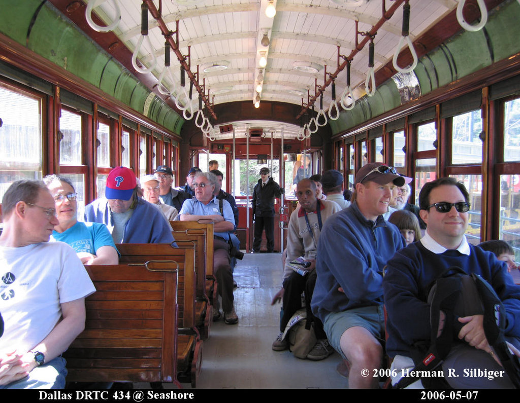 (244k, 1024x795)<br><b>Country:</b> United States<br><b>City:</b> Kennebunk, ME<br><b>System:</b> Seashore Trolley Museum <br><b>Car:</b> Dallas Railway & Terminal 434 <br><b>Photo by:</b> Herman R. Silbiger<br><b>Date:</b> 5/7/2006<br><b>Viewed (this week/total):</b> 0 / 771