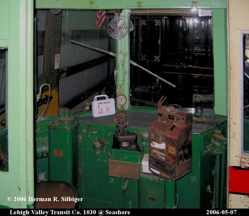 (197k, 1005x870)<br><b>Country:</b> United States<br><b>City:</b> Kennebunk, ME<br><b>System:</b> Seashore Trolley Museum <br><b>Car:</b> Lehigh Valley 1030 <br><b>Photo by:</b> Herman R. Silbiger<br><b>Date:</b> 5/7/2006<br><b>Viewed (this week/total):</b> 0 / 917